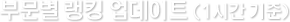 부문별 랭킹 업데이트(1시간 기준)